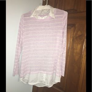 Khakis & Co Lavender Striped Sweater